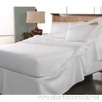 Tailor Fit Easy on Easy off Bedskirt and Box Spring Protector Queen White - B00EZK2V62