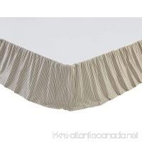 VHC Brands Farmhouse Bedding-Kendra Stripe White Skirt Queen Black - B073RTRTBZ
