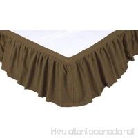 VHC Brands Rustic & Lodge Bedding - Tea Cabin Green Bed Skirt  King - B010E2GSCC