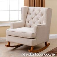Abbyson Living Thatcher Fabric Rocking Chair in Beige - B01MZ9YVMG