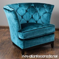 Anabella | Velvet Button-Tufted Club Chair | in Teal Blue - B00V75W2TO