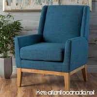 Archibald | Mid Century Modern Fabric Accent Chair | in Blue - B01LX9BEXU