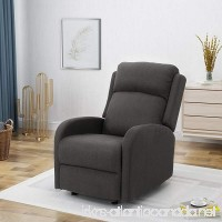 Ava Fabric Rocking Recliner Dark Grey - B07CNQR25L