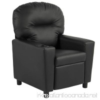 BCP Contemporary Black Leather Kids Recliner Chair with Cup Holder - B0157GKQ0K