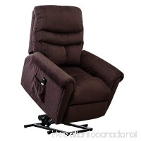 BONZY Lift Recliner Chair Power Lift Chair with Gentle Motor Long Hair Micro Fiber - Chocolate - B07CTL8TXN