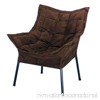 Casual Home Milano Chair with Black Metal Frame and Microsuede Outer Cover Brown - B00B9QWL56