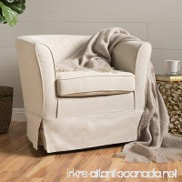 Cecilia Natural Fabric Swivel Chair with Loose Cover by Christopher Knight Home - B01NAGPCFL