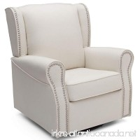 Delta Children Middleton Upholstered Glider Swivel Rocker Chair Cream - B07B8W2DJQ