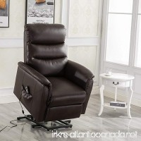 Esright Recliner Power Lift Chair Wall Hugger PU Leather with Remote Control (Brown) - B07B5ZTMVV