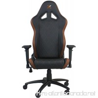 Ferrino Line Brown on Black Diamond Patterned Gaming and Lifestyle Chair by RapidX - B073XMCDT9