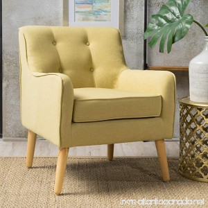 Fontinella | Mid Century Modern Fabric Arm Chair with Tufted Back | in Wasabi - B072KXMZW4