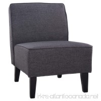 Giantex Deco Solids Accent Chair Armless Living Room Bedroom Office Contemporary (Gray) - B01M03Y61Q