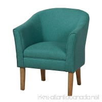 HomePop K6859-F1550 Chunky Textured Accent Chair Living Room Furniture  Medium  Teal - B00R4ZL4P4