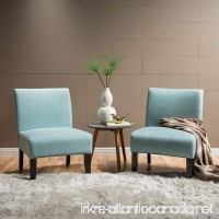 Kendal Light Blue Fabric Accent Chair (Set of 2) - B01N7EKQPN