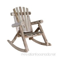 Lakeland Mills Cedar Log Rocking Chair  Natural - B00004S9J8