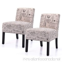 LAZYMOON Leisure Armless Chair Modern Contemporary Upholstered French Script Couch Seat Accent Chair Living Room Chair Set(2 PCs) - B078XS35WD