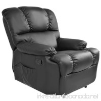 Massage Recliner Chair with Heat and Vibrating Gentleshower Full Body Leather Massage Chair with Control Black Sofa Chair Recliner for Living Room - B0785P248Z