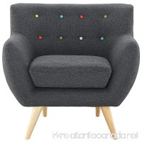 Modway EEI-1631-GRY Remark Mid-Century Modern Accent Arm Lounge Chair with Upholstered Fabric Gray - B00RXUKAWS