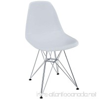 Modway Paris Mid-Century Modern Side Chair with Steel Metal Base in White - B0041H4H9I