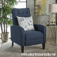 Nissa Tufted Navy Blue Fabric Recliner - B074N935ZJ