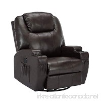 ORKAN Massage Sofa Electric Massage Recliner Massage Chair with Heating System & 360° Swivel Brown Typ1 - B07BXW9JLW