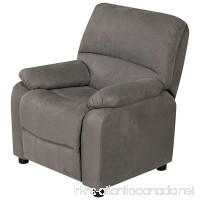 Relaxzen USB Charging Contemporary Kids Recliner with Storage Arms  Gray - B0765J1ZF7