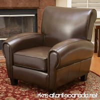 Ridgemark Brown Leather Club Chair - B005FF9X12