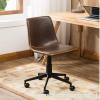 Roundhill Furniture OF1012BR Cesena Faux Leather 360 Swivel Air Lift Office Chair Brown - B075ZYLZK6