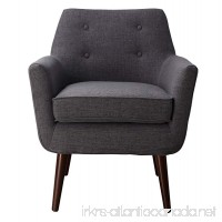 Tov Furniture Clyde Collection Mid Century Upholstered Tufted Living Room Accent Chair  Grey - B00KIN8KUG