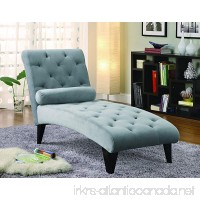 Coaster Transitional Grey Velour Tufted Living Room Chaise - B005GLEHTI