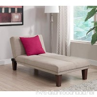 Contemporary Chaise Lounge - Seat Couch Sleeper Indoor Home Furniture Living Room Bedroom Guest Relaxation - B01M9J52DJ