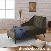 Great Deal Furniture | Indira | New Velvet Chaise Lounge | in Grey - B07C2NWY8J