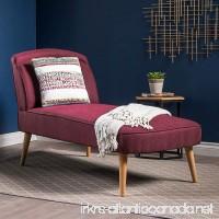 Jolie Mid Century Modern Wine Fabric Chaise Lounge - B0787XZYML