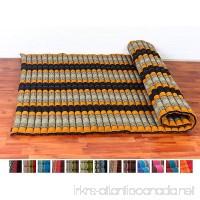 Leewadee Roll Up Thai Mattress XXL 79x59x2 inches Kapok Fabric Black Orange Premium Double Stitched - B07C2BB2QN