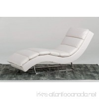 Limari Home Izzy Collection Modern Leatherette Upholstered Living Room Chaise Standard White - B06WP1WGRC