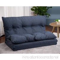 Merax. Adjustable Fabric Folding Chaise Lounge Sofa Chair Floor Couch (Navy 1) - B01HODWXX2