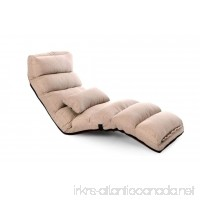 Porpora Relaxing Folding Futon Sofa and Comfortable Lounge Sofa  Beige - B071VM2825