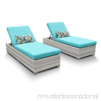 TKC Fairmont Patio Chaise Lounge in Turquoise (Set of 2) - B01N1TEXE2