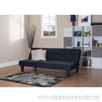 Contemporary Modern Black Futon Bed Sofa Couch Perfect For Dorm Apartment College Home Office Loft And Guest Room - B00J8MWRE8