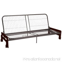 Epic Furnishings Bali Futon Sofa Sleeper Bed Frame Queen-size Mahogany Arm Finish - B00MHP03QM