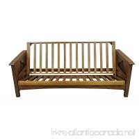 Gold Bond AOSUC + BOQC Burlington Cherry Oak Futon Frame  Queen  Brown - B01M0BVQH2