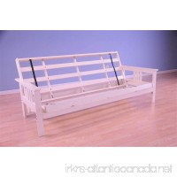 Monterey Futon Frame in Antique White Finish - B01DPWI48O