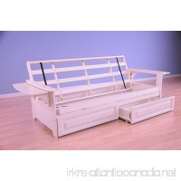 Phoenix Futon in Antique White Finish with Storage Drawer - B01DPWI4WA