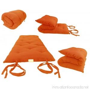 Brand New Orange Traditional Japanese Floor Futon Mattresses 3thick X 30wide X 80long Foldable Cushion Mats Yoga Meditaion. - B00UGFQT9A