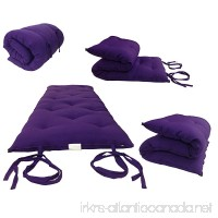 Brand New Purple Traditional Japanese Floor Futon Mattresses  Foldable Cushion Mats  Yoga  Meditaion. - B003VR1AUI