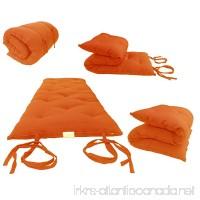 D&D Futon Furniture Brand New Full Size Orange Traditional Japanese Floor Futon Mattresses Foldable Cushion Mats Yoga Meditaion 54 Wide X 80 Long - B00UGNJXWM