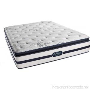 Beautyrest Recharge Simmons Luxury Firm Pillow Top Mattress Queen Pocketed Coil Air-Cool Gel Memory Foam Silver - B00SN7APFC