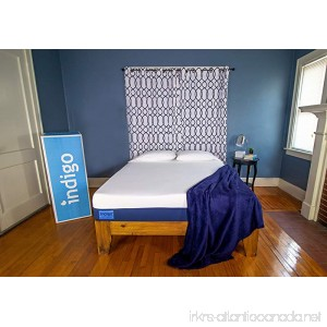 Indigo Sleep Classic King Mattress |Supportive Cool Gel Memory Foam |Great Sleep for Couples |Two Comfort Choices |CertiPUR-US |Non-Toxic |Patented |Clean & Safe|100 Night Trial - B07BBY7GTV