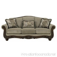 Ashley Furniture Signature Design - Martinsburg Sofa - Traditional Couch - Meadow with Brown Base - B007W1NP7K