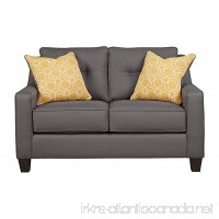 Benchcraft - Aldie Nuvella Contemporary Upholstered Loveseat - Gray - B06X3SYQDT